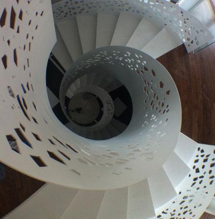 Proyecto diseño industrial. Escalera de caracol