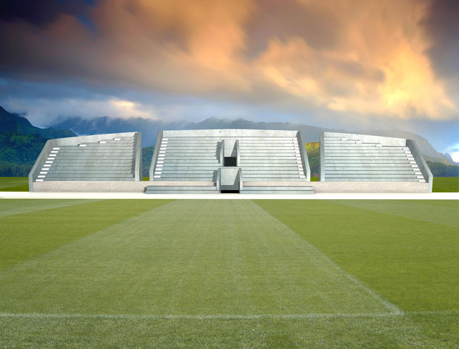 Proyecto de arquitectura. Vestuarios y campo de fútbol de Finestrat