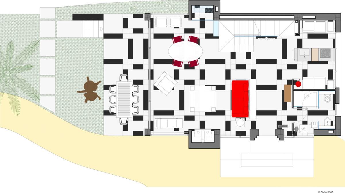 Estudio en Monforte del Cid. Planos técnicos planta baja
