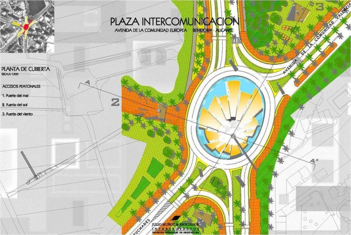 Proyecto de urbanismo plaza Intercomunicación Benidorm